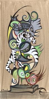 The Zebra Totem Pole