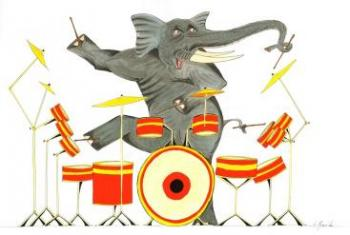 The Drumming Elephant